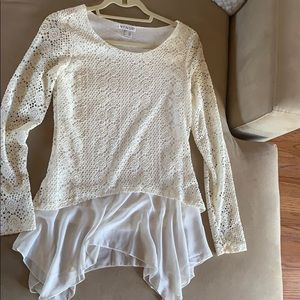 White Venus Knit Top